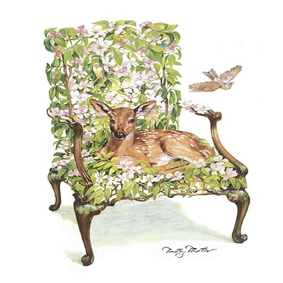 Fawn in Dogwood