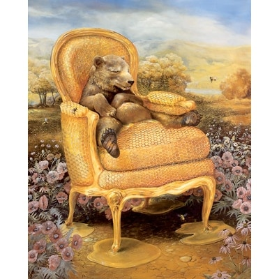 Honey Bear Chair Poster - Large