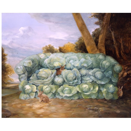 Vegetable Couch Notecards