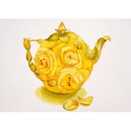Yellow Rose Teapot