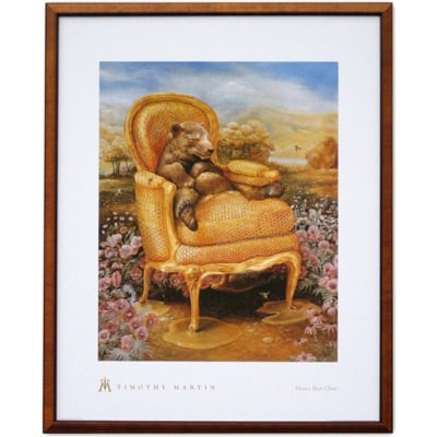 Honey Bear Chair Poster w/Wood Frame