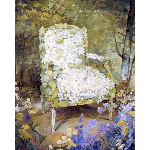 Floral Chair Series - Lilac Chair
