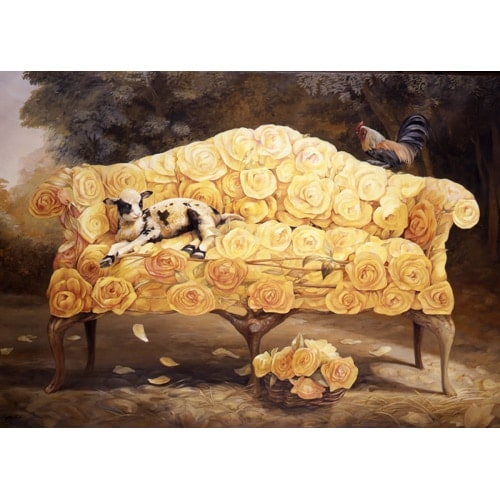 Rose Fleece Roost Poster - Large
