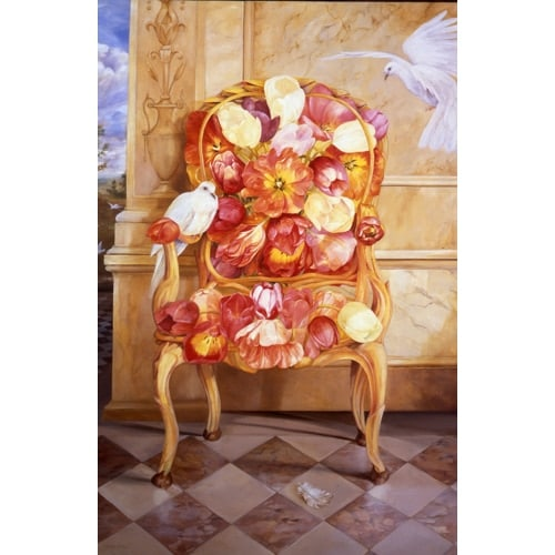 Travertine Tulips Poster - Large